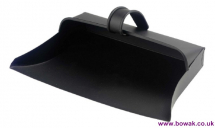 Metal Dustpan Enclosed Black