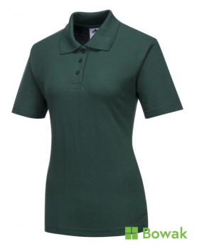 Ladies Polo Shirts Bottle Green