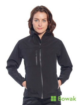 Ladies Soft Shell Jacket Black