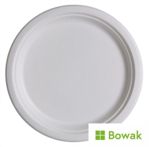 Bagasse Degradable Plates 25cm (10inch)