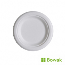 Bagasse Degradable Plates 18cm (7inch)