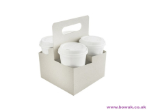 Carry Tray 4-Cup With Handle