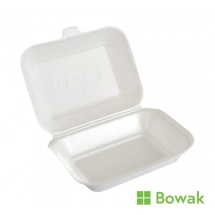 EPS Foam Hinged Food Box White HP2