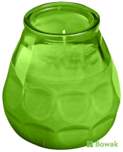 Lowboy Candle in Green Glass