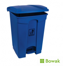 Waste Bin Blue with Pedal Operated Lid 45L