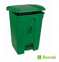 Waste Bin Green with Pedal Operated Lid 45L
