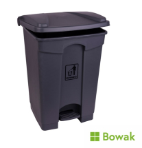 Waste Bin Grey with Pedal Operated Lid 45L