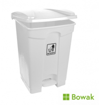Waste Bin White with Pedal Operated Lid 45L