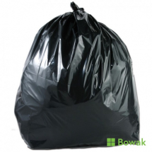 Polysax Waste Sacks Black Heavy Duty