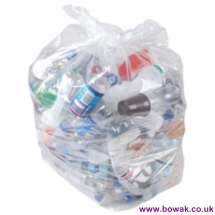 Refuse Sack Clear Light Duty 18x29x34    5kgs.