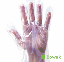 Clear Polythene Gloves Bagged Large