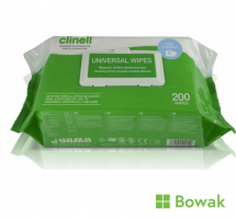 Clinell Sanitising Wipes 200 Pack
