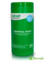 Clinell Sanitising Wipes 100 Tub