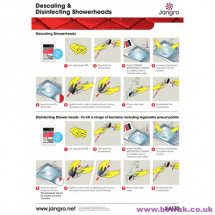 Descaling Disinfect Showerhead Guide - A4 wall chart