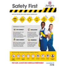 Safety First When Using Chemicals - Wall Chart