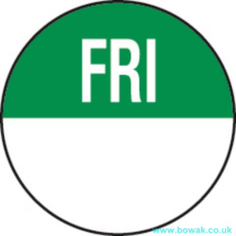 Day Dot 19mm Labels Friday Green