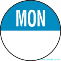 Day Dot 19mm Labels Monday Blue
