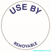 Use By Labels 25mm White Circle
