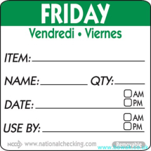 Item-Date-Use Labels Friday