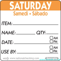 Item-Date-Use Labels Saturday