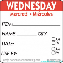 Item-Date-Use Labels Wednesday