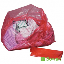 Red Laundry Bag with Dissolve Strip 30""